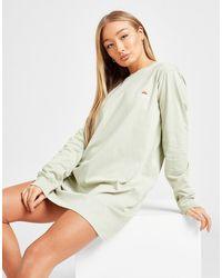 Ellesse Core Logo Long Sleeve T-shirt Dress - Green