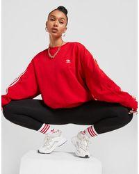 adidas Originals 3-stripes Adicolour Crew Sweatshirt - Red