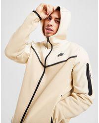 Nike Tech Fleece Full Zip Hoodie - Natural