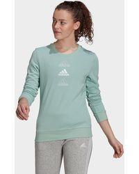 adidas - Essentials Stacked Logo Sweatshirt - Lyst