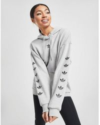 adidas Originals Repeat Trefoil Overhead Hoodie - Gray