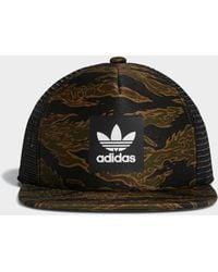 adidas - Camouflage Trucker Cap - Lyst