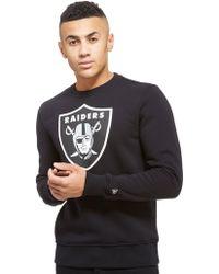 KTZ - Nfl Oakland Raiders Crew Sweatshirt - Lyst