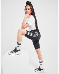 adidas Originals Mallas cortas 3-Stripes High Waisted - Negro