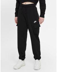 Nike Sportswear Essentials Mid-rise Cargo Trousers - Black