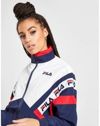 Fila Tape Colour Block Woven Track Top - Blue
