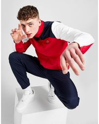 Lacoste Shoulder Block Woven Tracksuit - Red