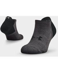 Under Armour Unisex Armour Dry Run No Show Socks - Black