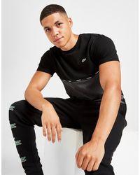 Lacoste Color Block Tape T-shirt - Black