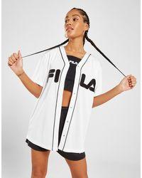 Fila Mesh Baseball Top - White