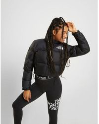 The North Face Cropped Nuptse Jacket - Black