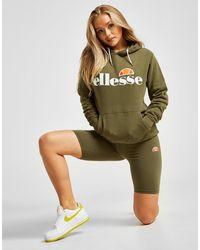 Ellesse Core Boyfriend Logo Hoodie - Green