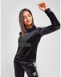 adidas Originals 3-stripes Velvet Long Sleeve T-shirt - Black