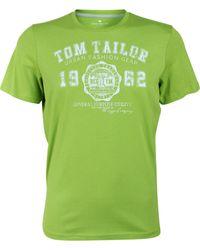 Tom Tailor T-Shirt Logo Tee Basic - Grün