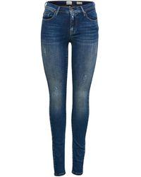ONLY Onlshape Reg Skinny Fit Jeans - Blau
