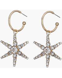 Jennifer Behr Ciel Drops From Hoop Earrings - Metallic