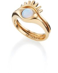 Jenny Bird Lia Ring Set - Metallic
