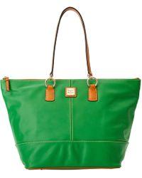 2e89b7d4884 Lyst - Lauren by Ralph Lauren Newbury Double Zip Satchel in Green