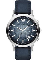 Emporio Armani - Leather Quartz Analog Watch Ar2473 - Lyst