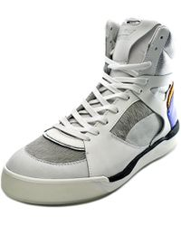 PUMA - Alexander Mcqueen By Mcq Move Mid White Sneakers - Lyst