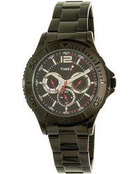 Timex - Tw2p87700 Black Stainless-steel Quartz Dress Watch - Lyst