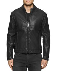 CALVIN KLEIN 205W39NYC - Faux-leather Aviator Jacket - Lyst