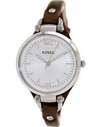 Fossil - Es3060 Georgia Leather Watch - Lyst