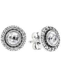 PANDORA - Statement Sparkling Stud Earrings - Lyst