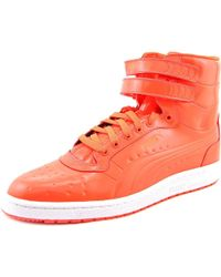 PUMA - Sky Ii Hi Men Us 9.5 Red Sneakers - Lyst