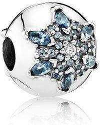 PANDORA - Crystallised Snowflake Clip - 791997nmb - Lyst