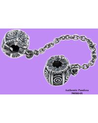 PANDORA - Dreamer Safety Chain W/clip In 925 Sterling Silver - Lyst