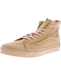 7d6f7c6830 Vans - Sk8-hi Slim Cutout Square Perf High-top Leather Skateboarding Shoe -