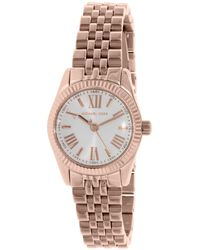 f538c69cc59d Lyst - Michael Kors Lexington Mk6207 Rose Gold  Analog Quartz Watch ...
