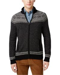 1c14afc7f98f Tommy Hilfiger - Black Ivory White Mens Size 2xl Full Zip Sweater - Lyst