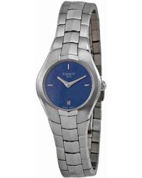 Tissot - T Trend T Round Blue Dial Stainless Steel Ladies Watch T0960091113100 - Lyst