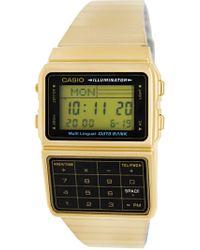 G-Shock - Data Bank Dbc611g-1 Stainless-steel Quartz Fashion Watch - Lyst