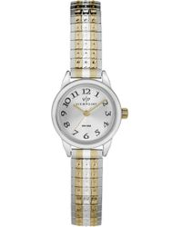 ba841d2ef Timex Carriage Womens Two Tone Expansion Band Watch in Metallic - Lyst