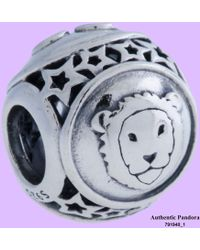 PANDORA - Sterling Silver Leo Star Sign Ladies Charm 791940 - Lyst