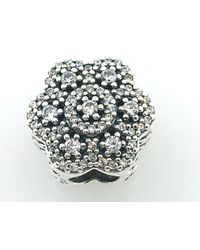 Pandora | Ice Floral Charm | Lyst