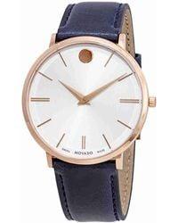 Movado - Ultra Slim White Dial Watch 0607181 - Lyst