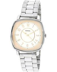 Fossil - Es4194 Silver Stainless-steel Quartz Fashion Watch - Lyst
