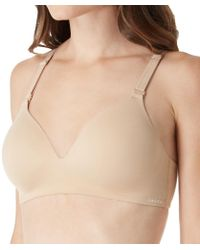 3e63a9baca Lyst - Calvin Klein Qf1804 Lounge Lightly Lined Wirefree Bra in ...