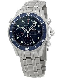Omega - 2225.80.00 'seamaster' Chronograph Automatic Stainless Steel Watch - Lyst