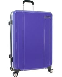 """CALVIN KLEIN 205W39NYC - Luggage Beacon 28"""" Checked Hardside Spinner Luggage - Lyst"""