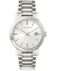 Burberry - Bu9000 Large Check Stainless Steel Bracelet Watch - Lyst