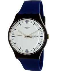 Swatch - Originals Suon709 Blue Rubber Swiss Quartz Dress Watch - Lyst