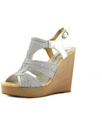 Lucky Brand - Rosiee Women Us 10 Silver Wedge Sandal - Lyst