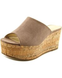 b4e4d960bf3 Charles David - Charles By Crisp Tan Wedge Sandal - Lyst