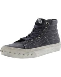 5a822eb84969d6 Vans - Sk8-hi Slim Overwashed High-top Canvas Skateboarding Shoe - 7m