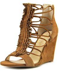e23a0a4312a8 Jessica Simpson - Beccy Women Us 9 Brown Wedge Sandal - Lyst